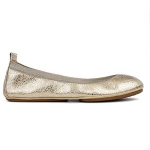 Champagne Speckled Leather Flats